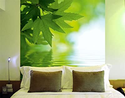 Giant Wall Mural Photo Wallpaper Maple On Water 300 X 280 Cm