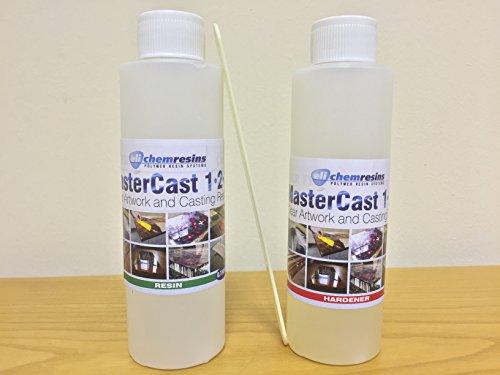 Résine d'époxy Transparent 285 ml de résine Kit de test (stabilisé) U.V avec mitigeur et durcisseur (sans outil U. K stock)