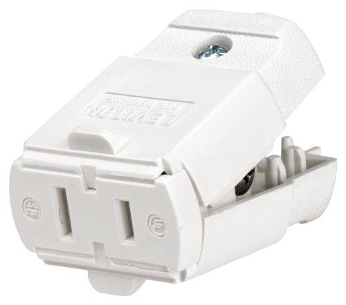 Leviton 102-Wp 15 Amp, 125 Volt, Cord Outlet, Polarized, Non-Grounding, White