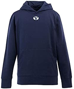 Brigham Young YOUTH Boys Signature Hooded Sweatshirt (Team Color) by Antigua