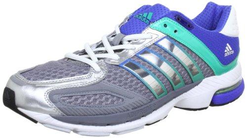 adidas Snova Sequence 5W G61258, Damen Laufschuhe, Grau (Tech Grey F12/Metallic Silver/Hyper Green F12), EU 46 2/3 (UK 11.5)