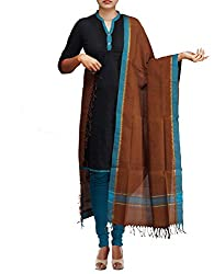 Unnati Silks Women Brown Pure Handloom Andhra Khadi Cotton dupatta