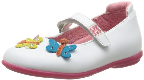 Agatha Girls Mary Jane Flats 142950 White B 8 UK Child, 25 EU