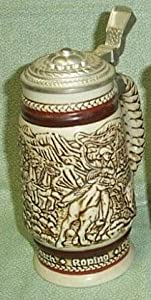 Avon Collectible Beer Stein: Roping (1980)