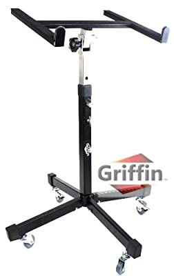 Rolling Mixer Studio Portable Table Stand DJ Cart on Wheels Mobile Griffin by Griffin