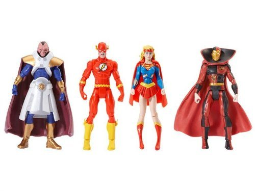 Buy Low Price Mattel DC Universe Infinite Heroes Crisis Exclusive Crisis on Infinite Earths Set of 4 Action Figures Psycho Pirate, The Flash, Supergirl The Monitor (B002MAOOOO)