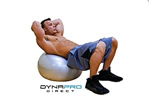 Exercise Ball with Pump, GYM QUALITY by DynaPro Direct. #1 Rated Fitness Ball by Amazon Customers! More colors and sizes available aka Yoga Ball, Swiss Ball