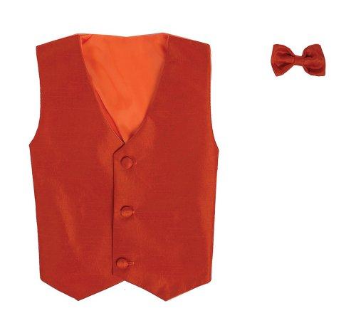 Vest And Clip On Baby Boy Bowtie Set - Burnt Orange - L/Xl (12-24 Months) front-566072