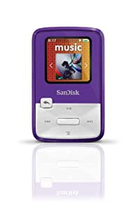 SanDisk Sansa Clip Zip 4GB MP3 Player (Purple)