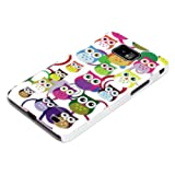 DeinPhone Small Coloured Owls Circles Hardcase Cover Bumper for Samsung Galaxy S2 i9100 S2 PLUS i9105 S II