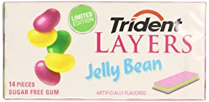 Trident Layers Sugar Free Gum, Jelly Bean, 14-Piece Package (Pack of 12)