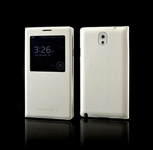 Samsung Galaxy Note 3 S-View Flip Cover Diary Case -White - Minter Brand  available at amazon for Rs.195