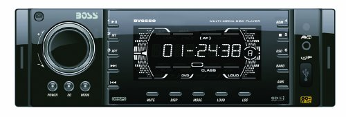 Boss BV6550 In-Dash DVD Player, Full Detachable Front Panel, ETR, AM/FM, AniGraFX Display