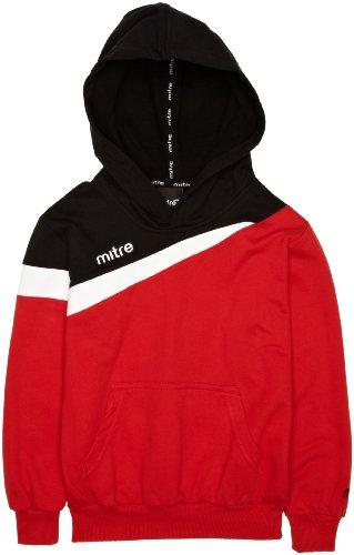 mitre-polarize-kinder-fuaball-kapuzenpullover-10-jahre-rot-rot-schwarz-weiss