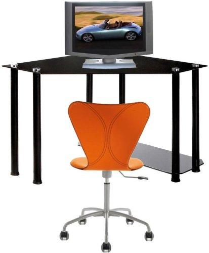 Buy Low Price Comfortable Corner Black Computer Desk (B001YKJIT4)