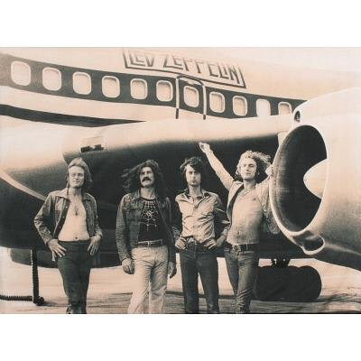Led Zeppelin Airplane Fabric Poster - 30X40 Custom Fit With Richandframous Black 40 Inch Poster Hangers