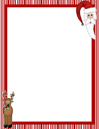Christmas Santa & Reindeer Stationery Printer Paper 26 Sheets