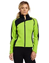 Big Sale Pearl Izumi Women's Elite Thermal Convertible Jacket, X-Large, Green Flash