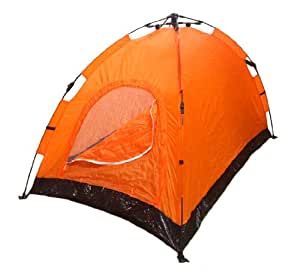 instant automatic pop up backpacking camping hiking 2 man tent orange sealed. Black Bedroom Furniture Sets. Home Design Ideas