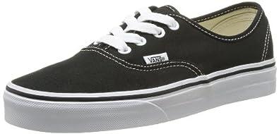 Vans Authentic, Unisex-Erwachsene Sneakers, Schwarz (Schwarz (Black / BLK)), 36 EU
