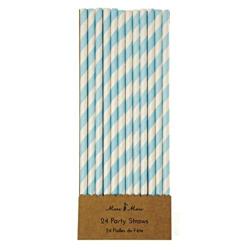 Meri Meri Blue Party Straws