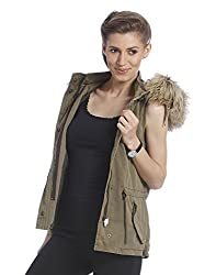 Only Women's Casual Waistcoat (_5712830837637_Military Olive_Large)