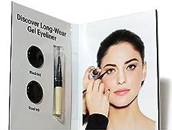 Bobbi Brown Long-Wear Gel Eyeliner Black Ink & Steel Ink .035 oz Sample