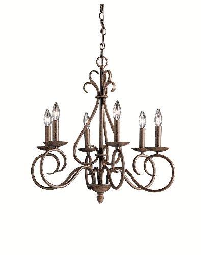 Kichler Lighting 1713Tz Norwich 6-Light Chandelier, Tannery Bronze