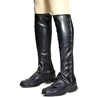 Steampunk Black Boot Spats