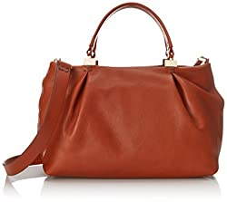 Kooba Handbags Loretta Satchel Top Handle Bag, Cognac, One Size