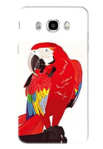 Blue Throat Red Parrot Printed Designer Back Cover/Case For Samsung Galaxy J5 2016