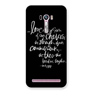 Premium Quote of Love Multicolor Back Case Cover for Zenfone Selfie
