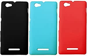 3 Pieces Winsome Deal Exclusive Hard Back Cover Case for Sony Xperia M