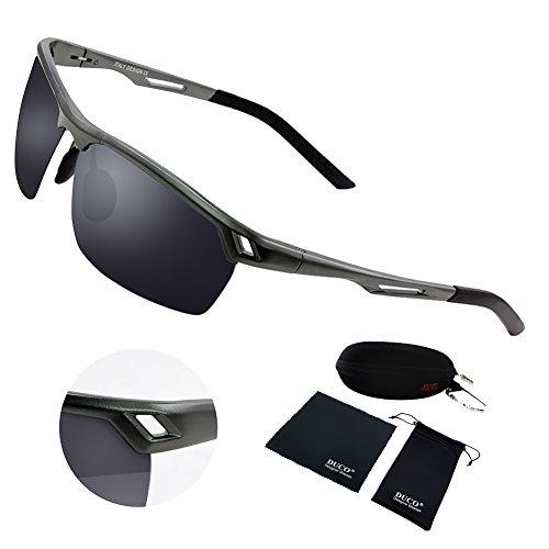 6e085c6dc1 Duco Men s Sports Style Polarized Sunglasses Driver Glasses Metal Frame  8550 (Gunmetal Frame