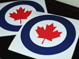 CANADA Royal Canadian AirForce RCAF Badge Sticker Decal 95mm - 2 off