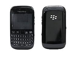 Blackberry Curve 9320 Full Housing Body Panel Faceplate Black FREE SIM ADAPTER
