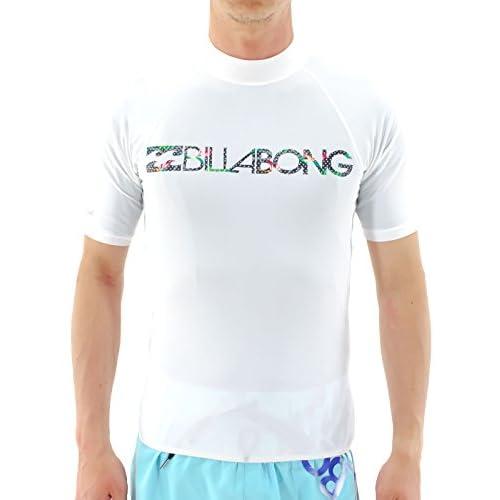 【BILLABONG】ビラボン2015春夏/メンズ半袖ラッシュガード ラッシュTシャツ ラッシュティーシャツ 海水浴 プール UVカット/M・L・XL/4カラー WHT M