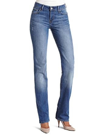 Levi's Misses Classic Demi Curve ID Straight Leg Jean, Raindrop, 6 M
