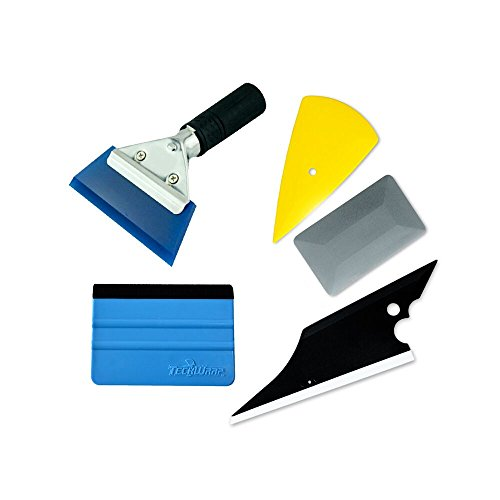7MO Installation Tool Kit for Auto Car Window Solar Film Trim with Replaceable Handled Rubber Squeegee,Felt Edge Squeegee 1 Set (Window Tints For Cars compare prices)