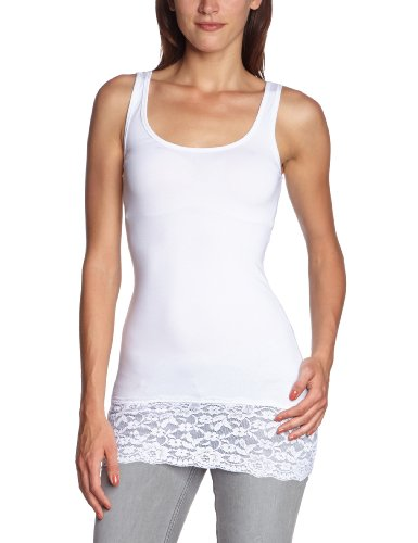 ONLY - 15072354, Top da donna, Bianco (Weiß (WHITE)), Large
