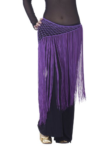 Dance Fairy Argentina purple Triangle Belly Dance Indian Dance,tassel scarf gorgeous