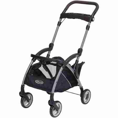 Graco SnugRider Elite Infant Car Seat Frame Stroller, Black Finish - Graco Snugrider Infant Car Seat Stroller Frame
