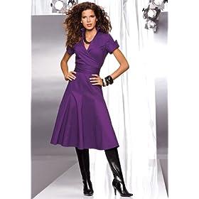 Amazoncom metrostyle Mock Wrap Dress Clothing