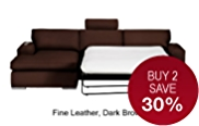 Finn Corner Sofa Bed (Left Hand) - Leather