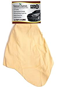 NATURAL CHAMOIS XL Mega Size (6.5 sq ft.) by Ever Automotive® Premium Zealand Sheepskin! Fast Drying! Dry and Polish Sratch Free! Eliminate Streaks and Spotting! SAVE 30%. BEST VALUE! BEST QUALITY! Thousands of Uses! Reducing drying time in half! Chamois