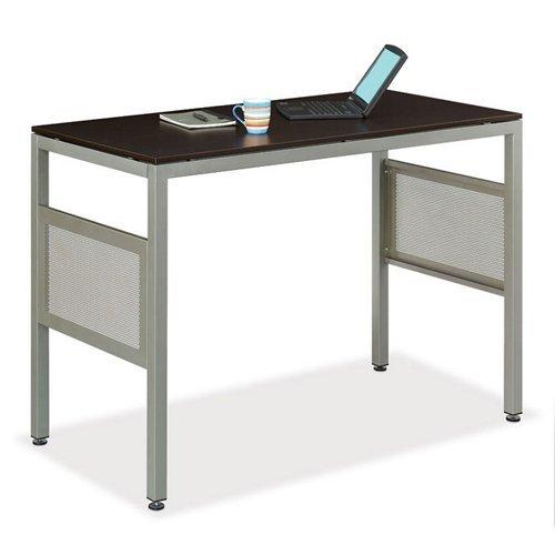 "At Work Standing Height Desk 48"" X 24"" Espresso Laminate Top/Brushed Nickel Frame"
