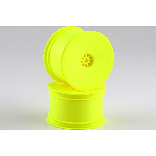 AKA Products 23101Y Hexlite Racing Yellow Assoc/Kyosho/Losi Buggy Rear Wheel, Scale 1:10 - 1