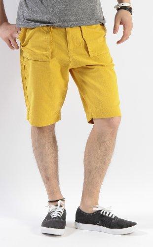 (バレッタ)Valletta 綿麻ベイカーtypeカラーショートパンツ ショーツ パンツ ハーフパンツ カラーショーツ 短パン メンズ Lサイズ マスタード