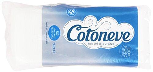 Cotoneve - Dischetti Levatrucco Maxi, 100% Puro Cotone - 50 pezzi