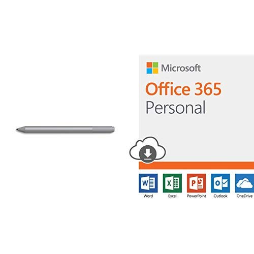 Microsoft Surface Pen Platinum Model 1776 (EYU-00009) with Microsoft Office 365 Personal | 12-month subscription 1 person PC/Mac Download